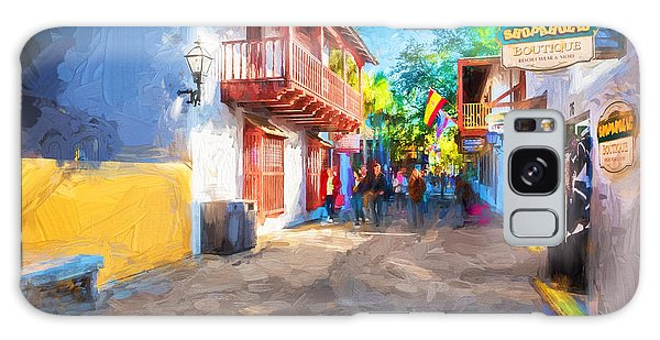 St George Street St Augustine Florida Painted Galaxy Case
