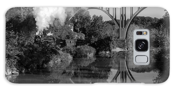 Steam In The Valley Nkp 765 Black And White Galaxy Case