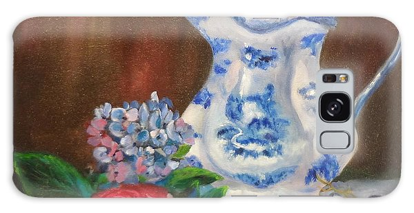 Still Life With Blue And White Pitcher Galaxy Case