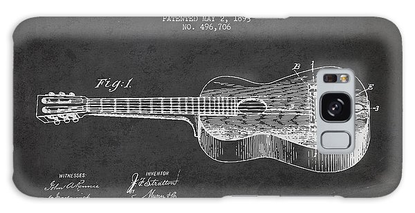 Stratton Guitar Patent Drawing From 1893 Galaxy Case by Aged Pixel