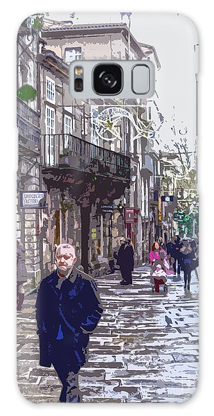 Streets And People Galaxy Case by Andrew Middleton