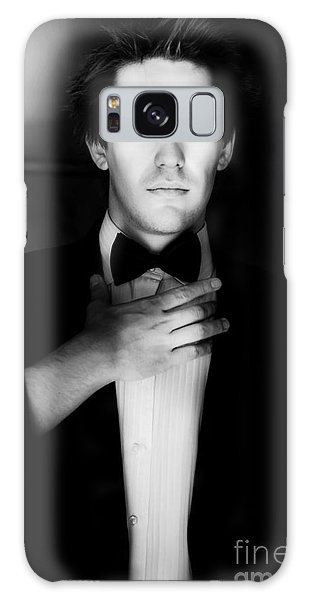 Catwalk Galaxy S8 Case - Stylish Male Model Wearing Business Suit by Jorgo Photography - Wall Art Gallery