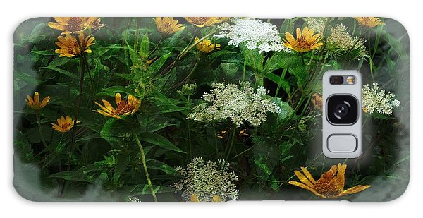 Summer Bouquet Galaxy Case by Kathie Chicoine