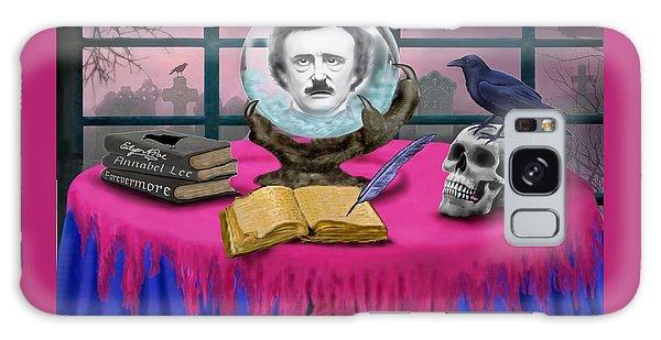 Summoning Edgar Allan Poe Galaxy Case by Glenn Holbrook