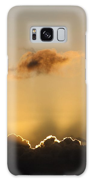 Sun Rays And Dark Clouds Galaxy Case