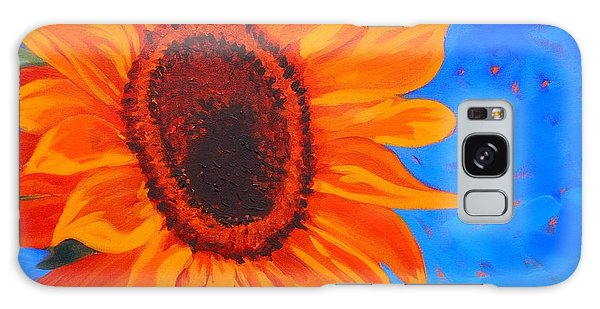 Sunflower Glow Galaxy Case by Janet McDonald