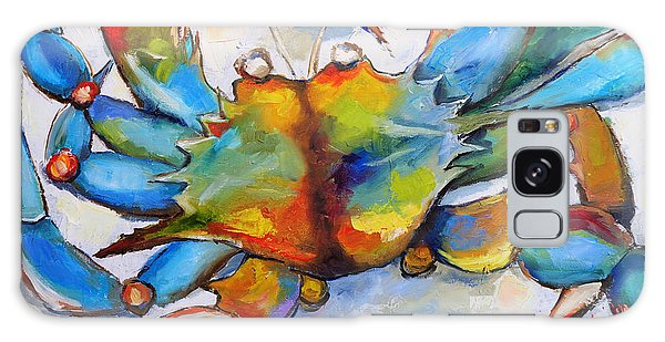 Sunny Blue Crab Galaxy Case by Carole Foret
