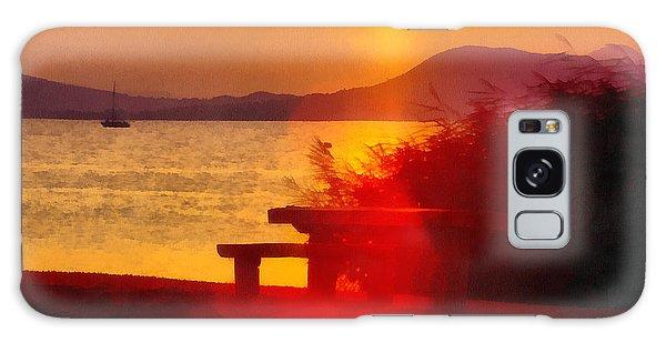 Sunrise In The Balaton Lake Galaxy Case
