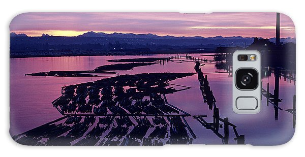 Sunrise Lumber Mill Galaxy Case
