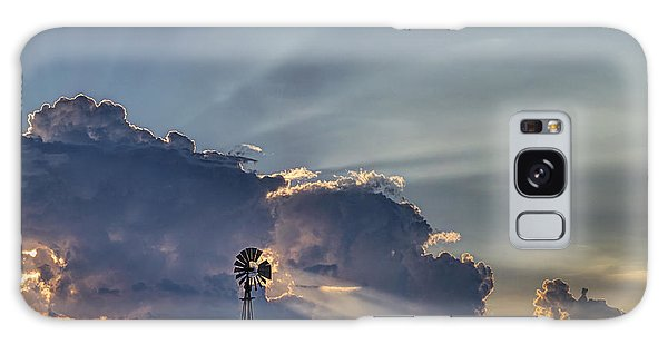 Sunset And Windmill Galaxy Case