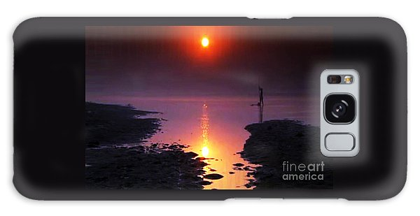 Sunset At Ganga River In The Planes Of Provinces Galaxy Case by Navin Joshi