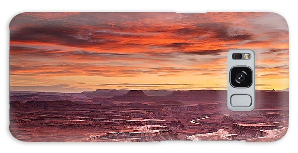 Sunset At The Green River Overlook Galaxy Case