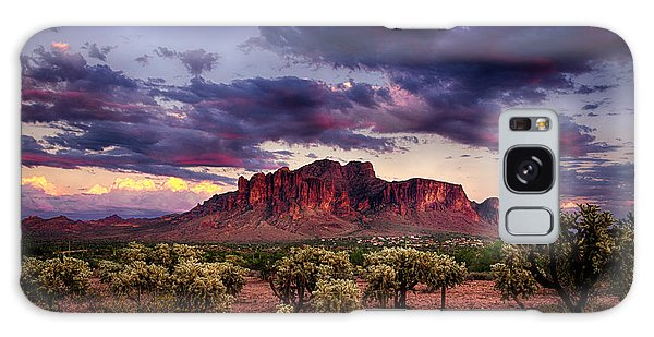 Sunset At The Superstitions  Galaxy Case