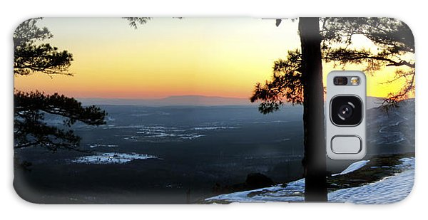 Sunset Atop Snowy Mt. Nebo Galaxy Case by Jason Politte