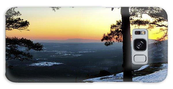 Sunset Atop Snowy Mt. Nebo Galaxy Case by Jason Politte
