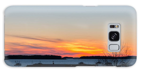 Sunset Down East Maine  Galaxy Case by Trace Kittrell