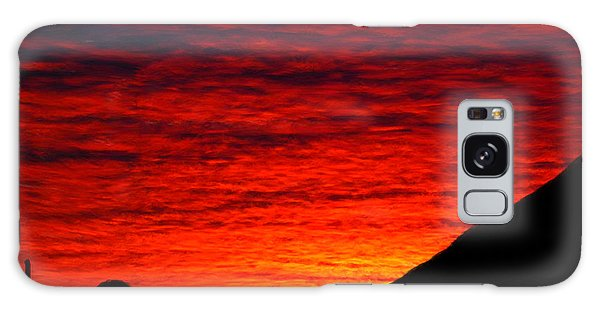 Sunset In The Desert Galaxy Case