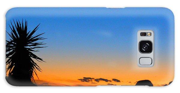 Sunset In The Desert Galaxy Case
