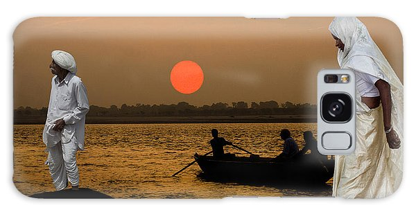 Sunset On Ganges Galaxy Case