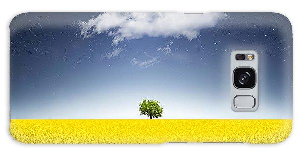 Countryside Galaxy Case - Surreal Canola Field by Bess Hamiti