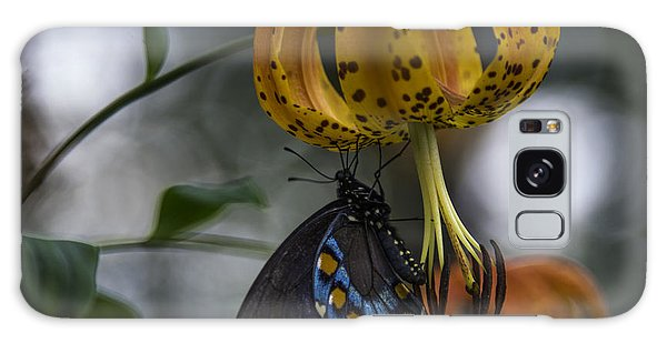Galaxy Case featuring the photograph Swallowtail On Turks Cap by Donald Brown
