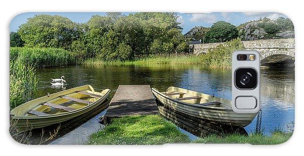 Swan Boats Galaxy Case - Swan Lake by Adrian Evans