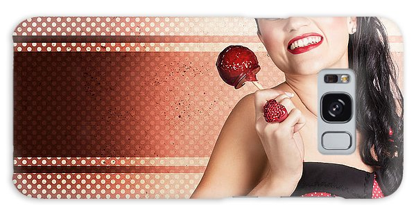 Vivacious Galaxy Case - Sweet Candy Pinup Girl With Vintage Toffee Apple by Jorgo Photography - Wall Art Gallery