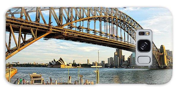 Sydney Harbour Bridge Arching Gracefully Over Sydney Harbour Galaxy Case