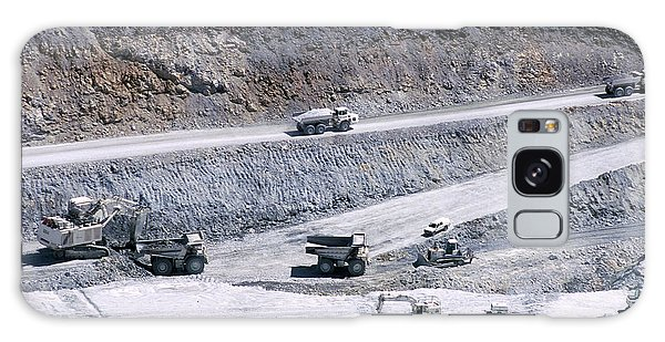 Excavator Galaxy Case - Talc Quarry Trucks by Philippe Psaila/science Photo Library