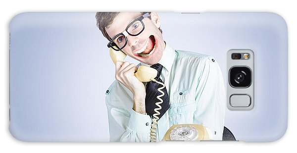 Traits Galaxy Case - Talkative Nerd Man With Big Mouth by Jorgo Photography - Wall Art Gallery