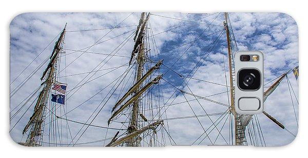 Tall Ship Three Mast  Galaxy Case by Dale Powell