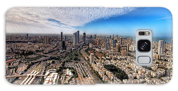 Tel Aviv Skyline Galaxy Case by Ron Shoshani