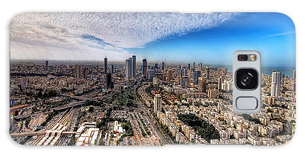 Galaxy Case featuring the photograph Tel Aviv Skyline by Ron Shoshani