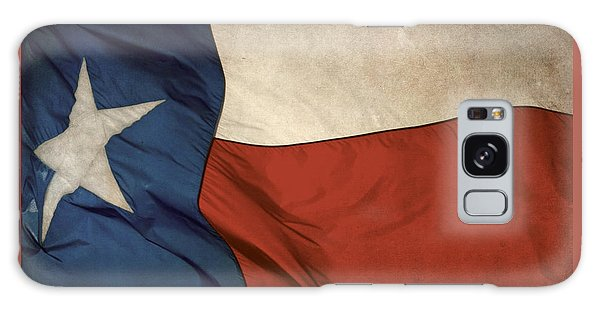 Rustic Texas Flag  Galaxy Case by David and Carol Kelly