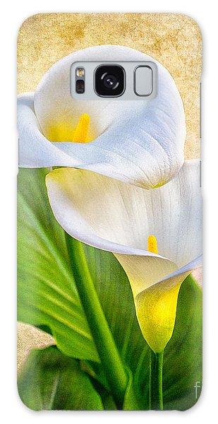 Textured Calla Lilies Galaxy Case