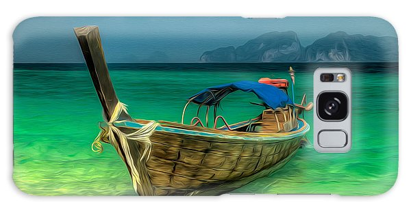 Thai Longboat Galaxy Case by Adrian Evans