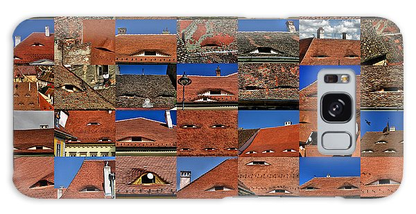 The City's Eyes Sibiu Hermannstadt Romania Galaxy Case