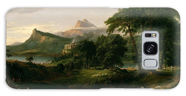 The Course Of Empire The Arcadian Or Pastoral State Galaxy Case by Thomas Cole