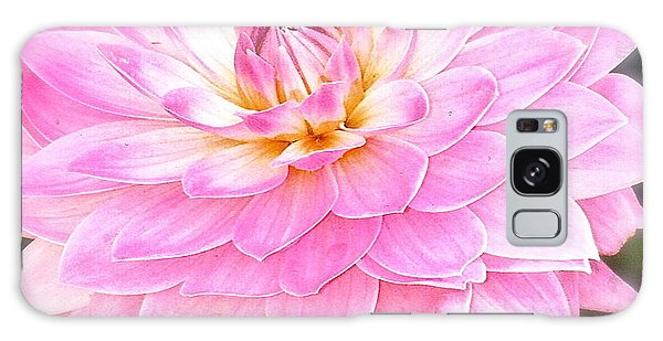 The Vivid Pink Dahlia Galaxy Case by Margie Amberge
