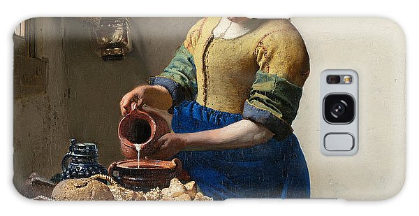 Jan Vermeer Galaxy Case - The Milkmaid by Johannes Vermeer