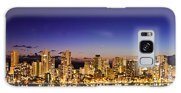 The Moon And Venus Over Honolulu Galaxy Case