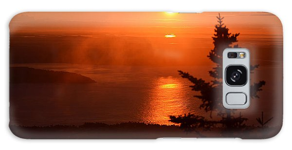 The Sunrise From Cadillac Mountain In Acadia National Park Galaxy Case