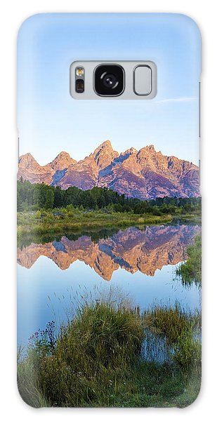 Grass Snake Galaxy Case - The Tetons Reflected On Schwabachers Landing - Grand Teton National Park Wyoming by Brian Harig