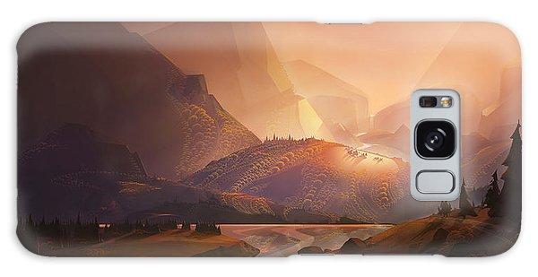 Mountain Lake Galaxy Case - The Valley by Kristina Vardazaryan