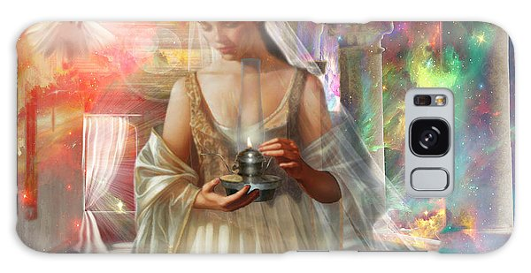 The Waiting Bride Galaxy Case by Dolores Develde