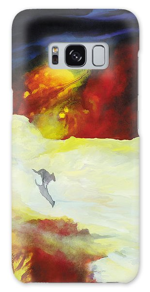 The Wolf's Song Galaxy Case by The Art of Marsha Charlebois