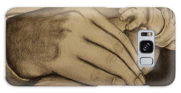 These Are The Hands That Love Me Galaxy Case by Dan Wagner