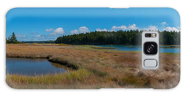 Thompson Island In Maine Panorama Galaxy Case