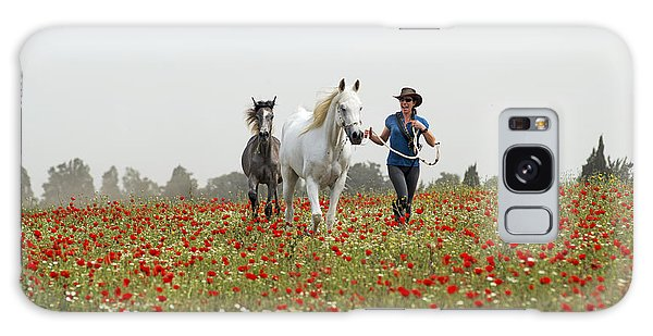 Three At The Poppies' Field... 3 Galaxy Case
