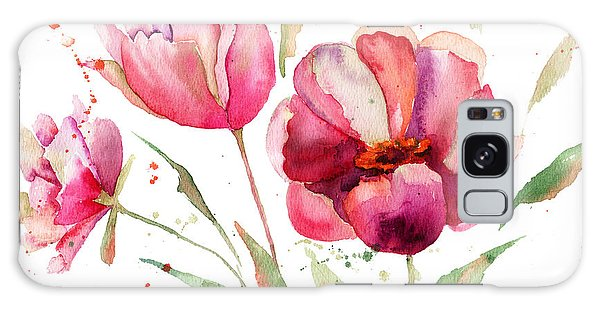 Three Tulips Flowers  Galaxy Case